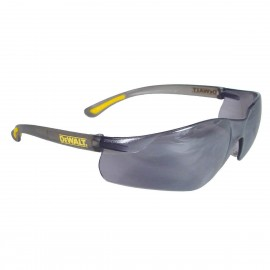 DEWALT Contractor Pro - Silver Mirror Lens Safety Glasses Frameless Style Silver Mirror Color - 12 Pairs / Box