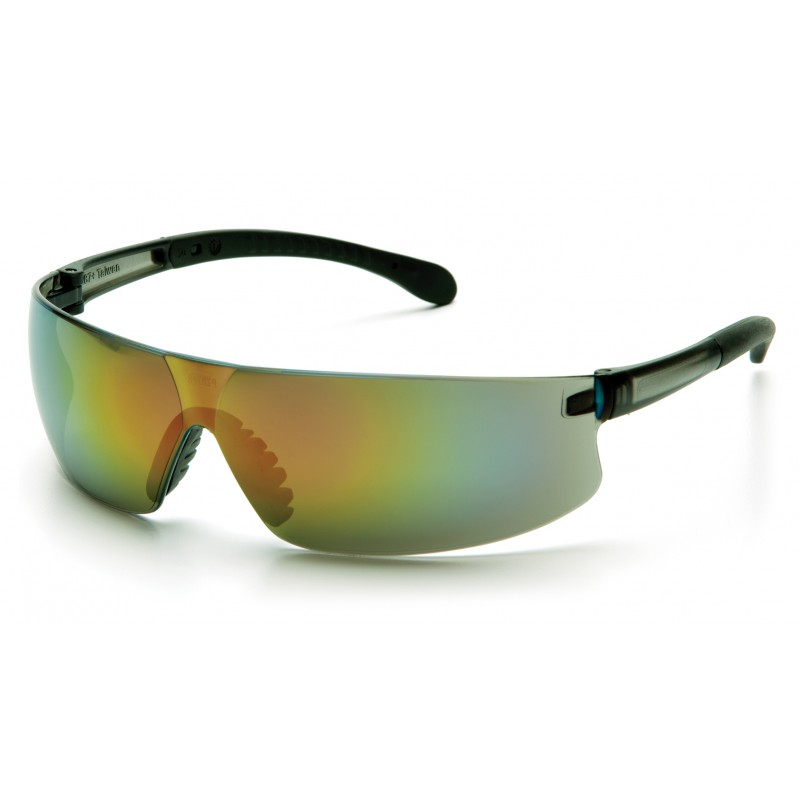 Pyramex Safety - Provoq - Gray Temples/Multi-color Mirror Lens Polycarbonate Safety Glasses - 12 / BX