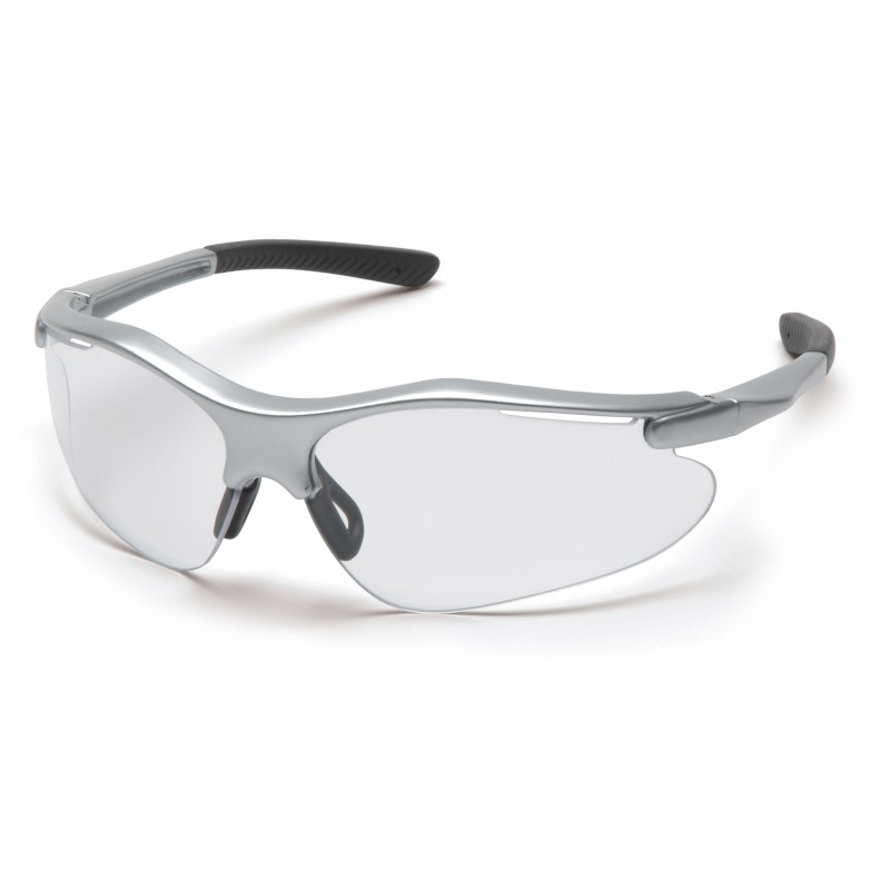 Pyramex Safety - Fortress - Silver Frame/Clear Lens Polycarbonate Safety Glasses - 12 / BX