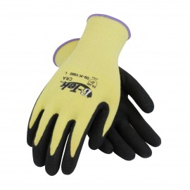 G-Tek CRA Seamless Knit Kevlar® Glove with Nitrile Coated MicroFinish Grip on Palm & Fingers - Medium Weight