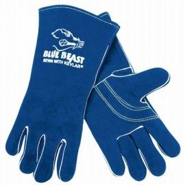 MCR Blue Beast Leather Welding Gloves 12 Pairs