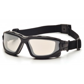 Pyramex  IForce  Black StrapTemples/Indoor/Outdoor Mirror AntiFog Lens  Safety Glasses  12/BX