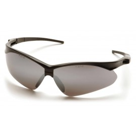 Pyramex Safety - PMXTREME - Black Frame/Silver Mirror Lens with Black Cord Polycarbonate Safety Glasses - 12 / BX