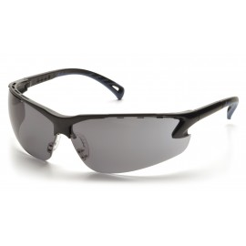 Pyramex Safety - Venture 3 - Black Frame/Gray Lens Polycarbonate Safety Glasses - 12 / BX