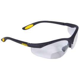 DEWALT Reinforcer Rx - Clear Lens 2.0 Safety Glasses Half Frame Style Black Color - 12 Pairs / Box