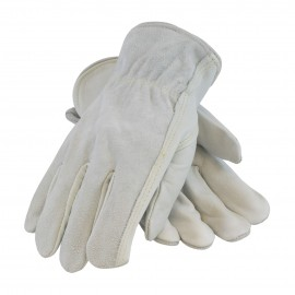 PIP Regular Grade Shoulder Split Leather Kevlar® Stitched Driver's Glove - Keystone Thumb