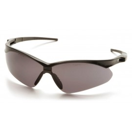 Pyramex  PMXTREME  Black Frame/Gray AntiFog Lens with Black Cord  Safety Glasses  12/BX