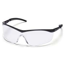 Pyramex  Mayan  Black Frame/Clear Lens  Safety Glasses  12/BX