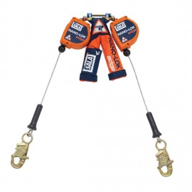 3M™ DBI-SALA® Nano-Lok™ edge Twin-Leg Quick Connect Self Retracting Lifeline - Cable 3500225, Orange, 8 ft. (2.4 m)