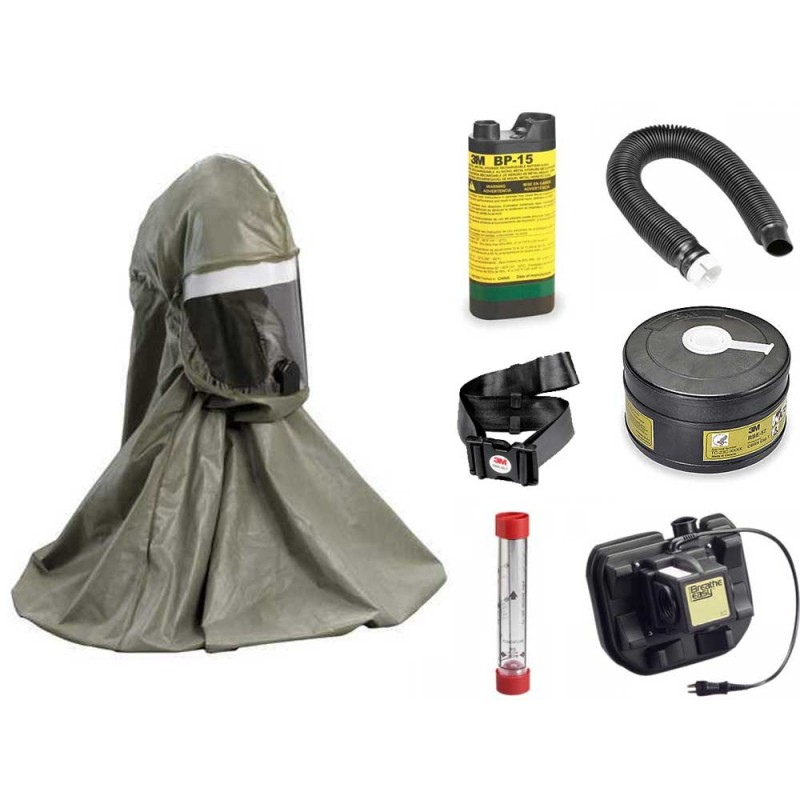 3M Breathe Easy First Responder Hood PAPR System - with NiMH Battery
