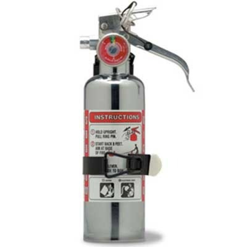 Amerex Chrome BC Dry Chemical Fire Extinguisher