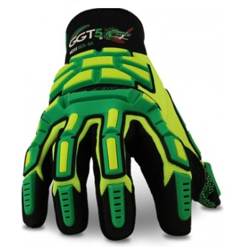 HexArmor 4020X GGT5 Gator Grip Work Gloves Color Green 1 Pair