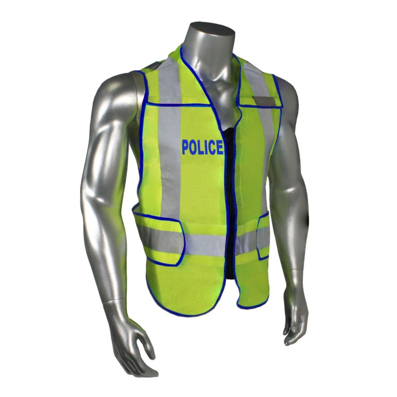 Radians Radwear Police Safety Vests Hi-Vis Green Color- 1 Each