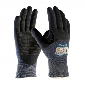 PIP ATG 44 3455 MaxiCut Ultra DT Gloves  ANSI A3 5  Dotted Palms  3/4 Coat Nitrile Micro Foam  Blue (1 DZ)