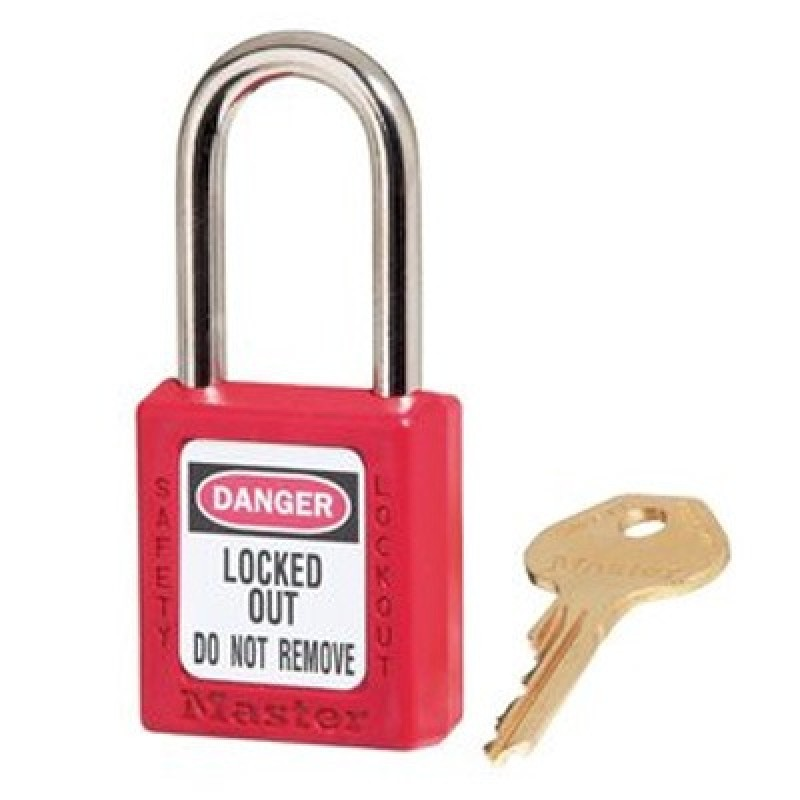 Masterlock Xenoy 410 Red Safety Padlocks - Keyed Alike