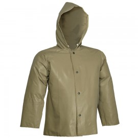 Tingley J12148.SM Magnaprene Jacket Olive Drab Storm Fly Front Attached Hood Inner Cuffs