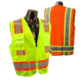 Radians SV6 Safety Vest - Class 2 - Two Tone Surveyor - Solid Front Mesh Back