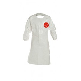 DuPont™ Tychem 4000 Knee-Length Apron Attached Sleeves 25/Case