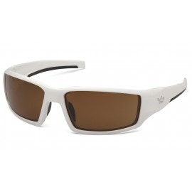 Venture Gear Pagosa White Frame/Bronze AntiFog Lens Safety Glasses 1 / EA
