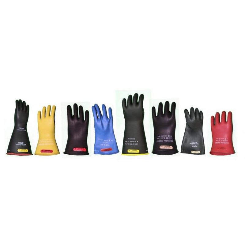"Chicago Protective Apparel Class 2 16"" Rubber Insulated Gloves, Enviro Safety Products, envirosafetyproducts"