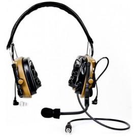 3M™ PELTOR™ ComTac™ IV Hybrid Communication Headset, Single Comm, Flexi Boom Mic, MT16H044FB-47 CY, Coyote Brown 1 EA/Case