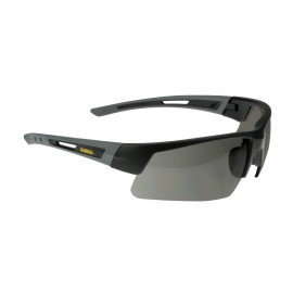 DEWALT Crosscut - Smoke Lens Safety Glasses Half Frame Style Black Color - 12 Pairs / Box
