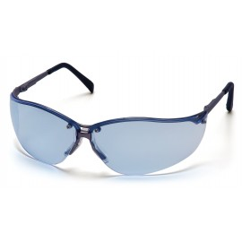 Pyramex Safety - V2-Metal - Gun Metal Frame/Infinity Blue Lens Polycarbonate Safety Glasses - 12 / BX