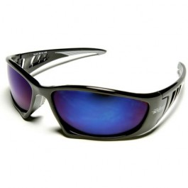 Edge Baretti Safety Glasses - Blue Mirror Lens