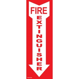 BL108 fire vinyl sign