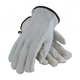 PIP 68-161SB Regular Grade Shoulder Split Leather Driver's Glove - Keystone Thumb 12/Pairs