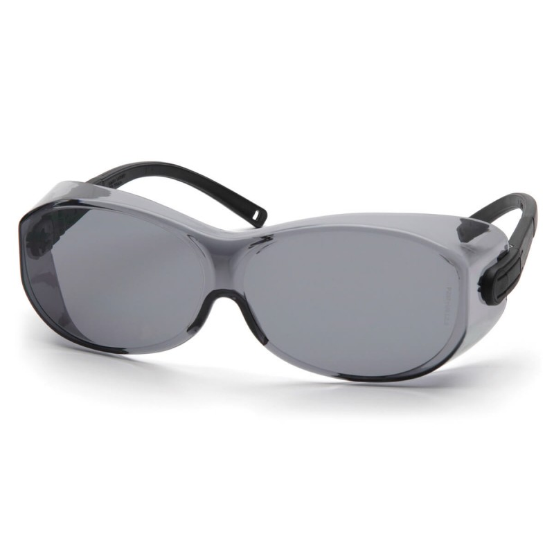 Pyramex Safety - OTS XL - Black Temples Gray Lens Polycarbonate Safety Glasses - 12 / BX