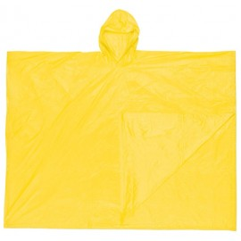 MCR Schooner Poncho, .10mm PVC Disposable Poncho, Attached Hood, Tote Pouch, (1 Each)