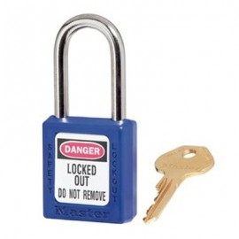 Masterlock Xenoy 410 Blue Safety Padlocks - Keyed Alike