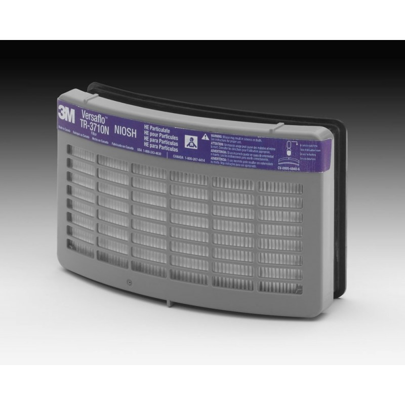 3M™ Versaflo™ TR-3712N-40 HE Filter for TR-300 Series PAPR (Case of 40)