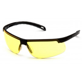 Pyramex  EverLite  Black Frame/Amber Lens  Safety Glasses  12/BX