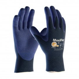 PIP ATG 34-244 MaxiFlex Elite Gloves - Ultra Lightweight - Dotted Palms - Nitrile Micro-Foam - Blue Color (1 DZ)