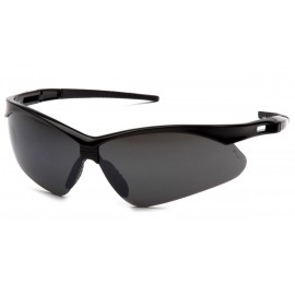 Pyramex Safety - PMXtreme - Black frame/smoke green mirror with cord Polycarbonate Safety Glasses - 12 / BX
