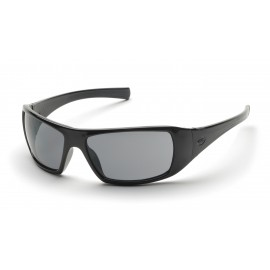 Pyramex  Goliath  Black Frame/Gray Lens  Safety Glasses  12/BX