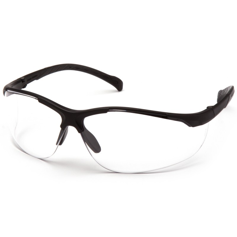 c90c3624840 More Views. Pyramex Gravex Black Frame Clear Lens Safety Glasses ...