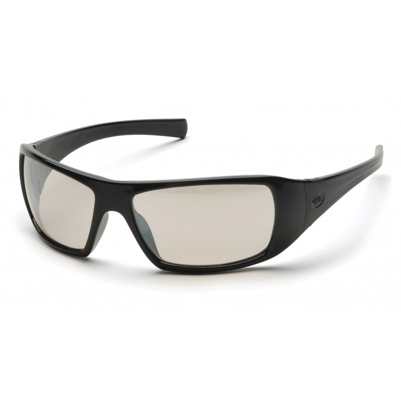 Pyramex Safety - Goliath - Black Frame/Indoor/Outdoor Mirror Lens Polycarbonate Safety Glasses - 12 / BX