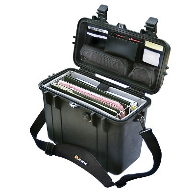 Pelican 1437 Top Loader Case with Padded Office Divider Set & Lid Organizer