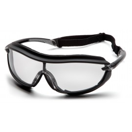 Pyramex Safety - XS3 Plus - Black Frame/Clear Anti-Fog Lens Polycarbonate Safety Glasses