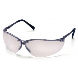 Pyramex Safety - V2-Metal - Gun Metal Frame/Clear Lens Polycarbonate Safety Glasses - 12 / BX
