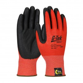 PIP 09-K1640/S G-Tek Hi Vis Seamless Knit Kevlar® Blended Glove with Nitrile Coated Foam Grip on Palm & Fingers Touchscreen Compatible Small 6 DZ