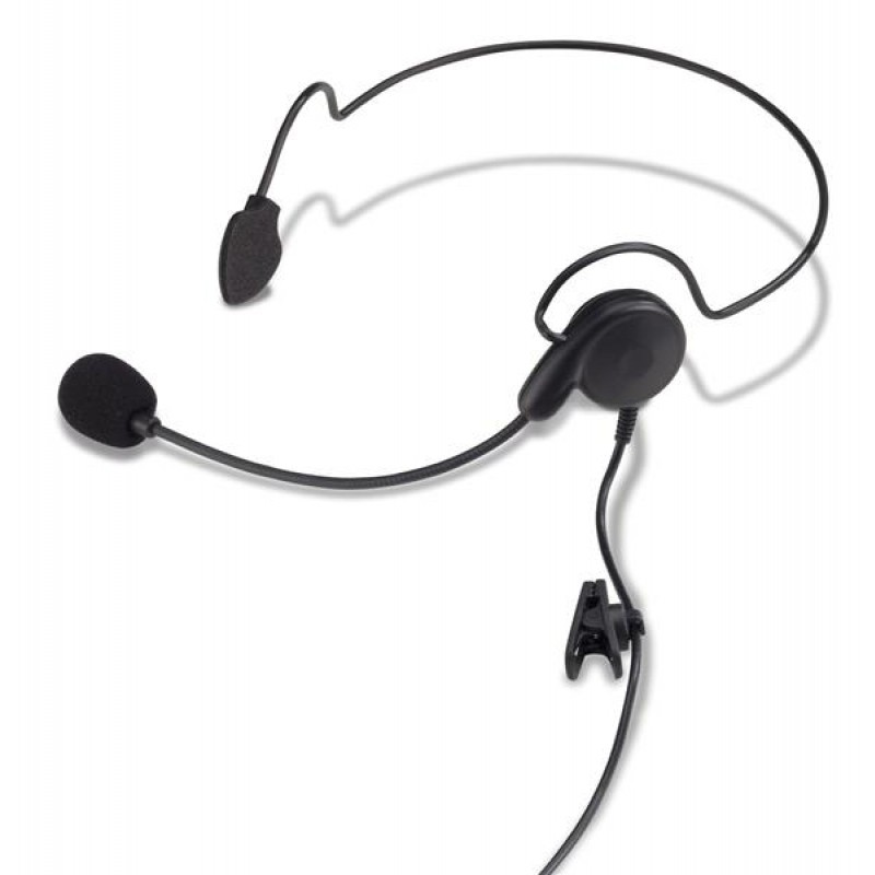 Behind-the-Head Headset with Single Ear Receiver and Boom Microphone