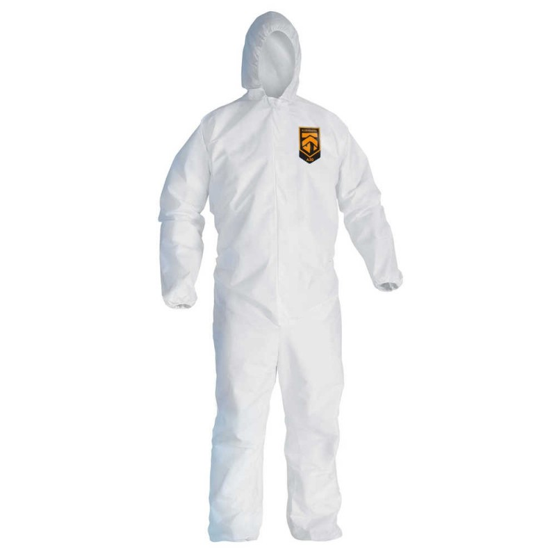 Kimberly Clark 46113  Kleenguard™ A30 Breathable Splash & Particle Protection Coveralls 25/Case Large