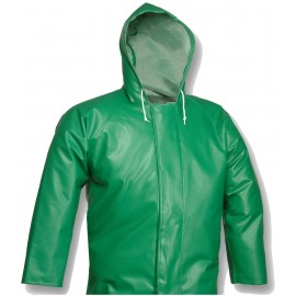 Tingley J41108.3X Safetyflex Jacket Green Storm Fly Front with Hood
