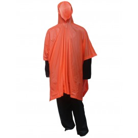 Tingley P68809.EA Poncho Orange Attached Hood Side Snaps