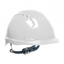 PIP Evolution Deluxe 6131 Standard Brim Hard Hat White Color 10/Case