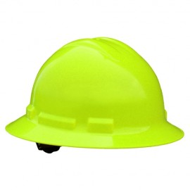 Radians Quartz 6 Point Ratchet Suspension Full Brim Hard Hats Green HI VIZ Color  (1 Each)